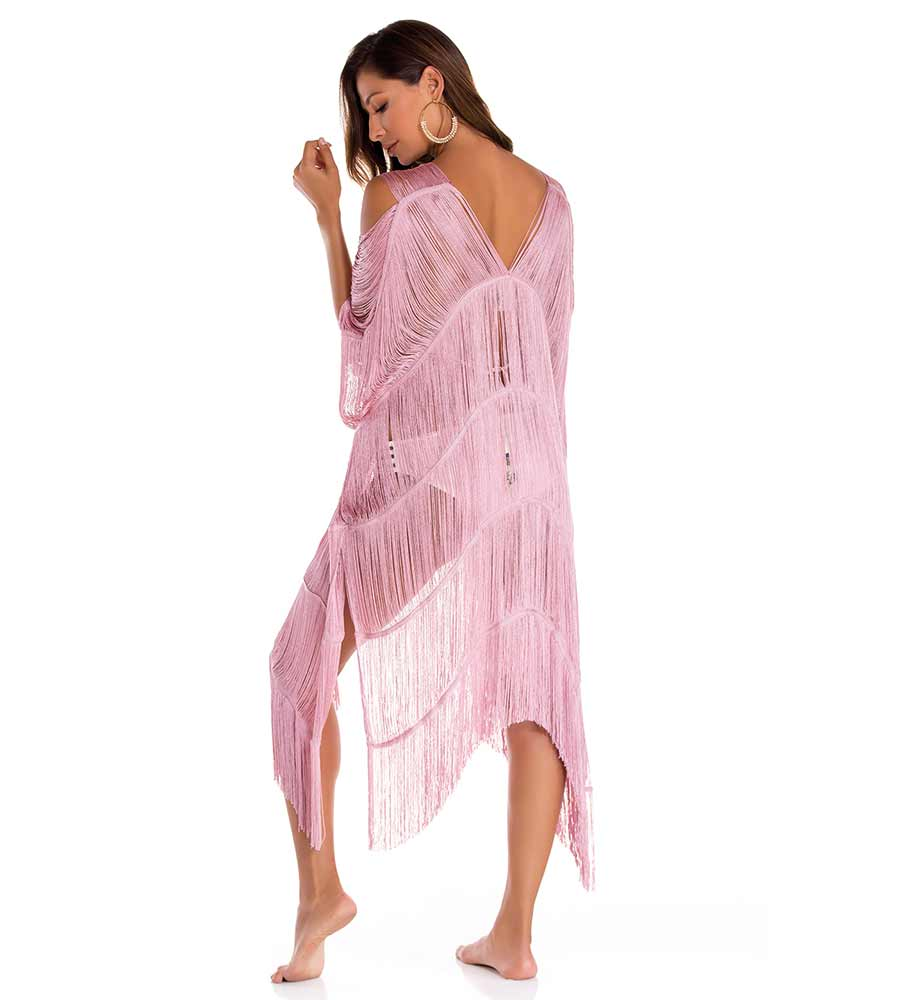 AREZZO LILAC FRINGE COVER UP BY MILONGA