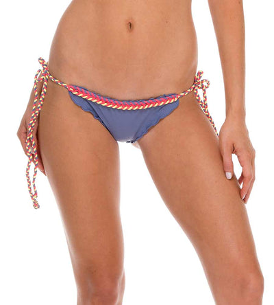 ATREVIDA BLUE MOON CROCHET BRAZILIAN RUCHED TIE SIDE BOTTOM LULI FAMA L52802-421