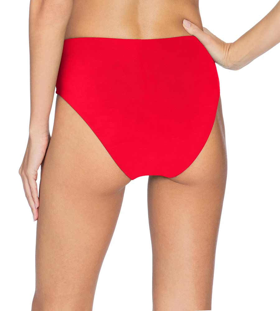 AVA FIERY RED HIGH WAIST BOTTOM BY ROBIN PICCONE