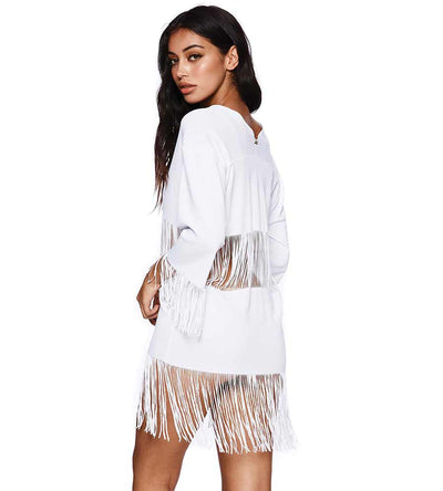 WHITE INDIAN SUMMER TUNIC BEACH BUNNY B16130C2-WHTE