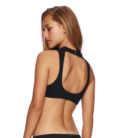 BLACK CALIFORNICATION GWEN HIGH NECK TOP BEACH BUNNY B19112T5-BLCK