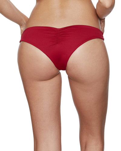 BURGUNDY ONE SHOULDER BIKINI BOTTOM SABZ B9-18