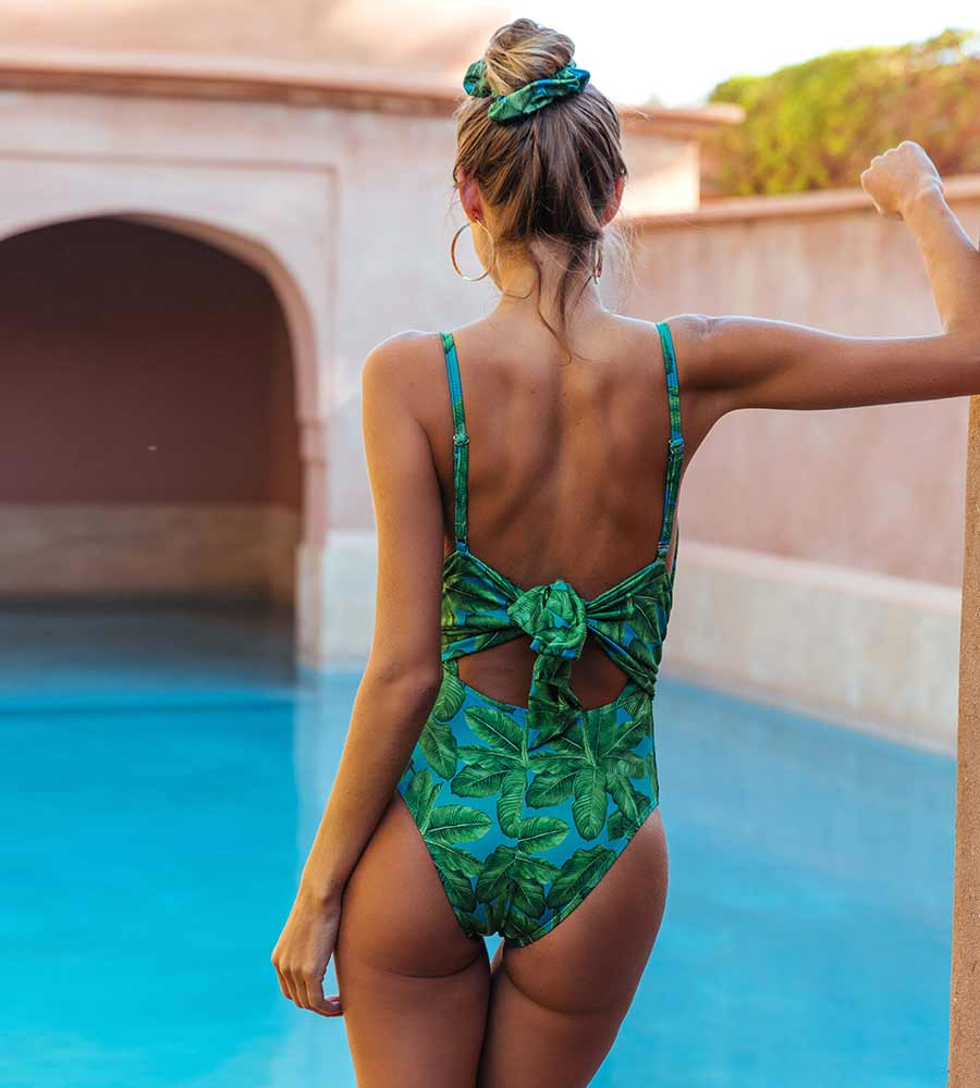 BANANA LEAF SAHARA ONE PIECE BY KITESS SWIMWEAR