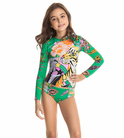 BENGALA CAT GIRLS RASHGUARD SET MAAJI 3105KRS011