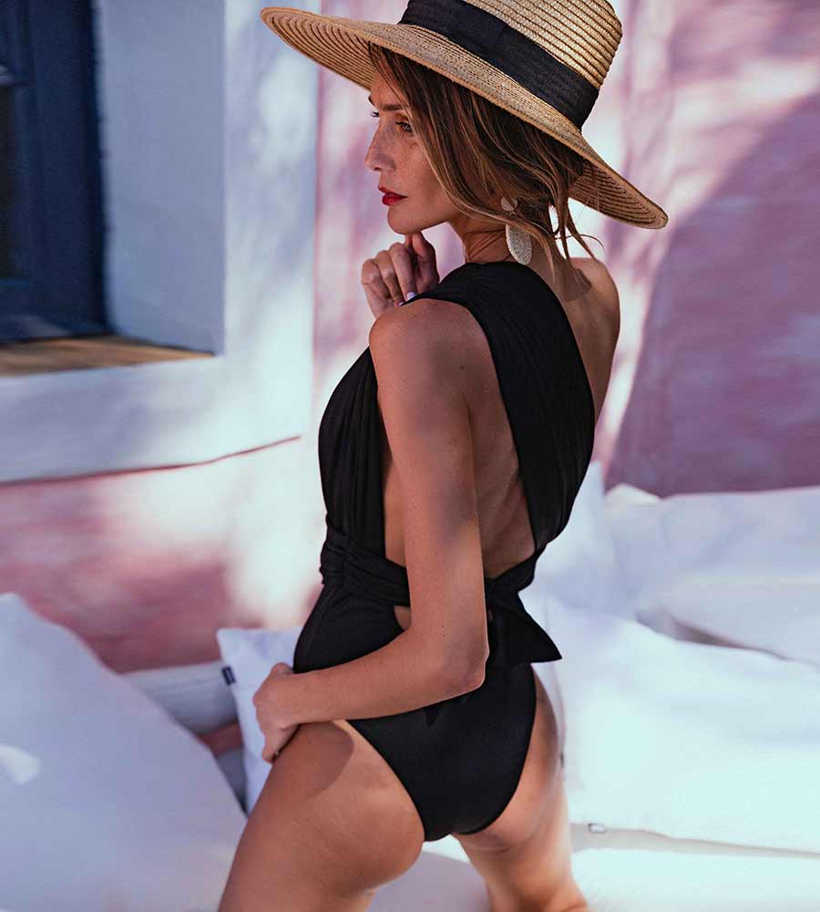 #BESEXY BLACK ONE PIECE BY KITESS SWIMWEAR