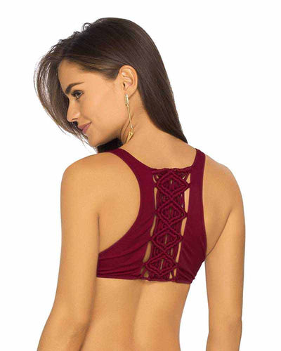 RED WINE LOLLAPALOOZA HALTER TOP PHAX BF11530130-507