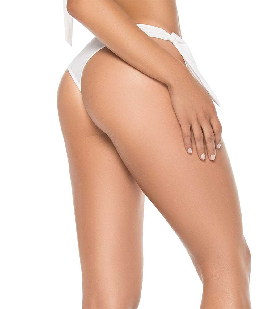 WHITE COLOR MIX THONG BOTTOM BY PHAX