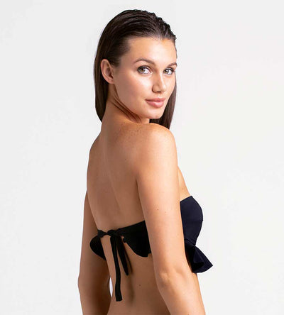 BLACK BEAUTY RUFFLE BANDEAU TOP TOUCHE 0B43001