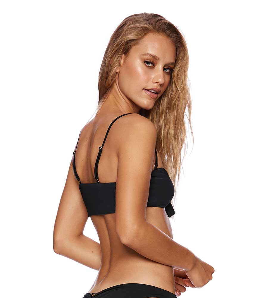 BLACK BUNNY BASICS LAYLA BANDEAU TOP BY BEACH BUNNY