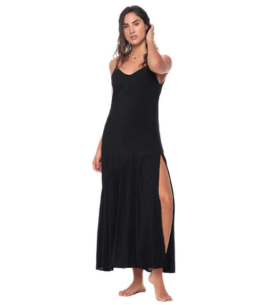 BLACK CAMELUS MAXI DRESS MALAI C22001