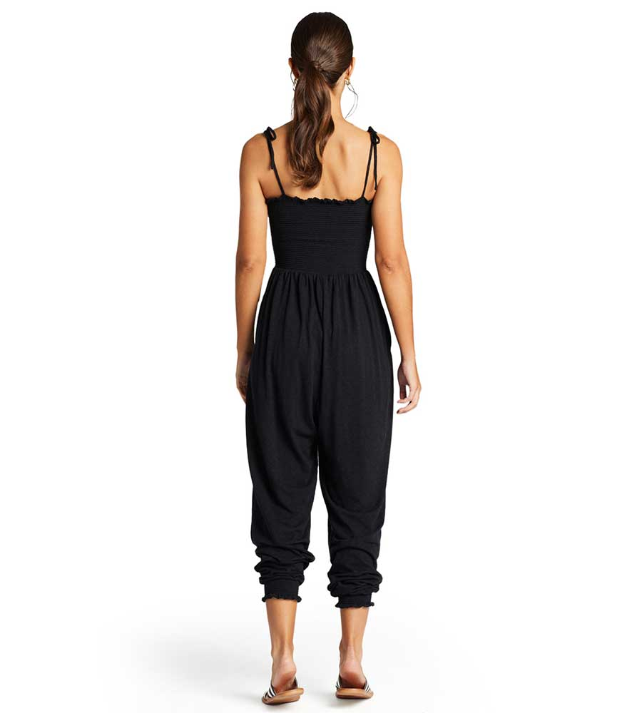 BLACK ECOCOTTON MOONLIGHT JUMPSUIT VITAMIN A 902JRCB