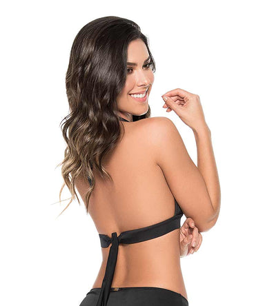 BLACK COLOR MIX HALTER TOP PHAX BF16530015-001
