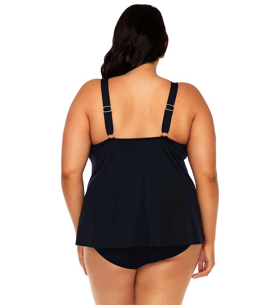 BLACK SADIE TANKINI TOP SUNSETS ESCAPE 584TBLCK