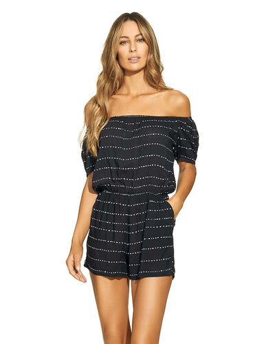 BLACK STRIPE DOT MINI JUMPER VIX 283-579-001