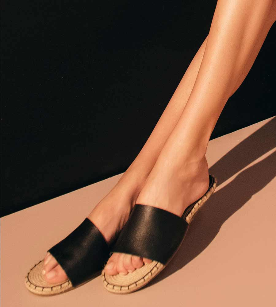 BLACK WHIP STITCH SANDALS TOUCHE 0S05002