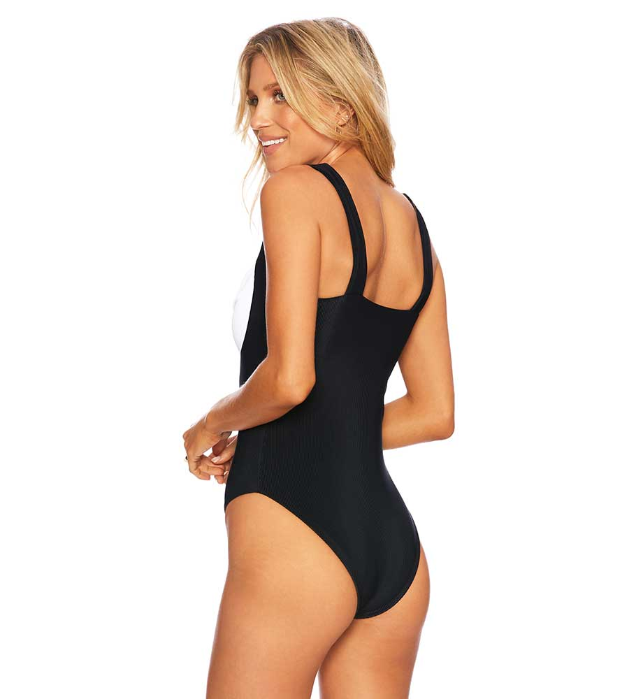 BLACK&WHITE BREA ONE PIECE BEACH RIOT BR02744S1-B/W