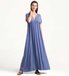 BLUE BONNET MAXI DRESS TOUCHE 0F77001