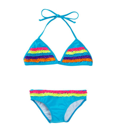 BLUE CHASING RAINBOWS TRIANGLE BIKINI AZUL 3129-T