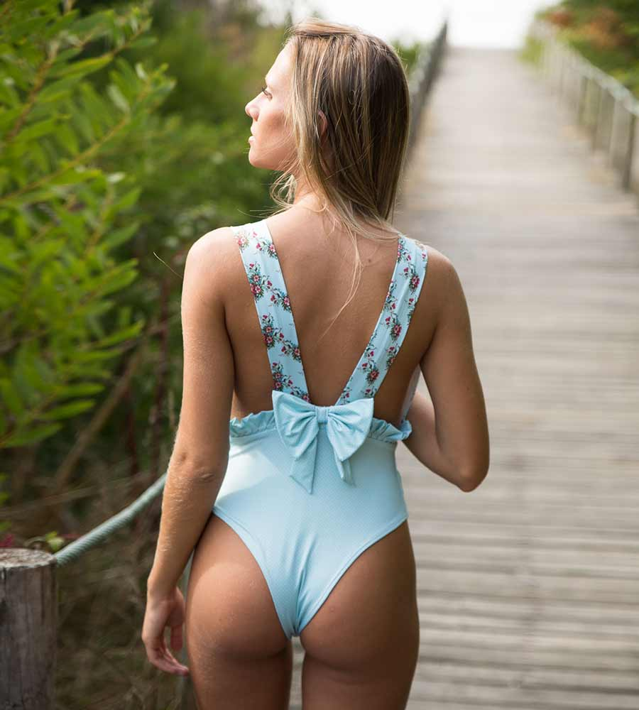 BLUE CUBA ONE PIECE BY KITESS SWIMWEAR