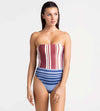 BLUE JEWEL RHUBARB BANDEAU ONE PIECE TOUCHE 0E32001