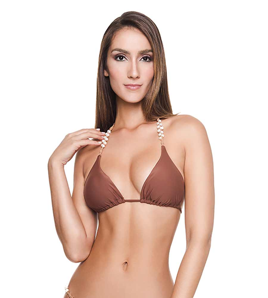BROWNIE SHELLEY BIKINI TOP BY DESPI