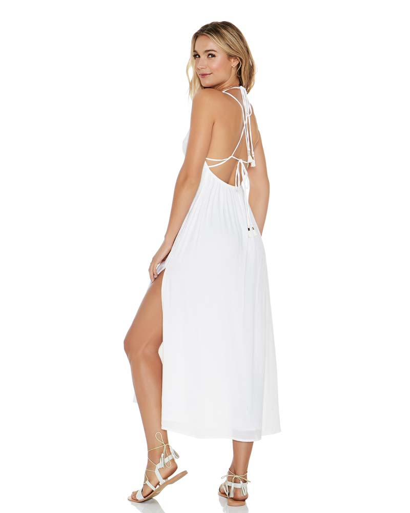 WHITE BEACHSIDE BEAUTY DRESS BY LSPACE