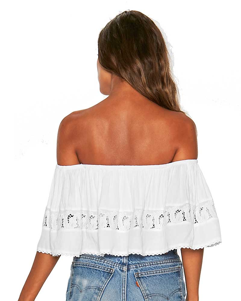 WHITE BIG WAVE TOP BY LSPACE