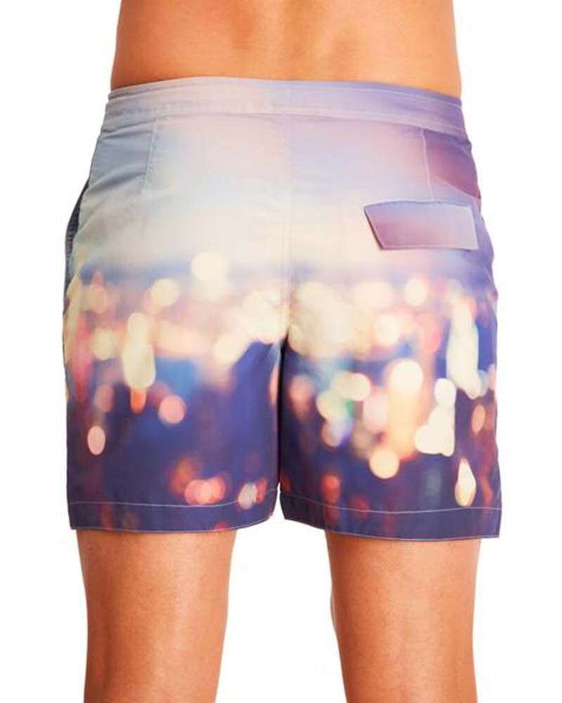 BLURRED LIGHTS SWIM TRUNKS BY AQUA ET SOL