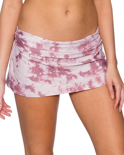 DUSTY ROSE ALOHA SWIM SKIRT SWIM SYSTEMS C282DUSR