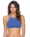 BLUE VIOLET ELEVATE HALTER TOP SWIM SYSTEMS C611BLVI