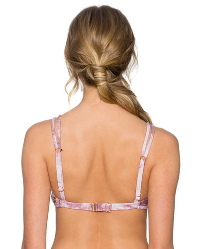 DUSTY ROSE TRELLIS BRALETTE TOP SWIM SYSTEMS C621DUSR