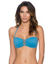 BAY BLUE TRELLIS BANDEAU TOP SWIM SYSTEMS C624BAYB