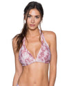 DUSTY ROSE LA JOLLA HALTER TOP SWIM SYSTEMS C700DUSR