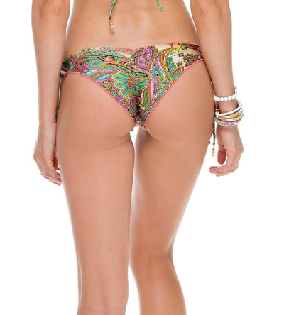 CALLEJERA CRYSTAL BRAZILIAN RUCHED TIE SIDE BOTTOM LULI FAMA L51102-111