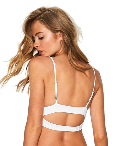 WHITE HORIZON STRIPE OLIVIA BLOCKED TOP LSPACE CBOLT18-WHT
