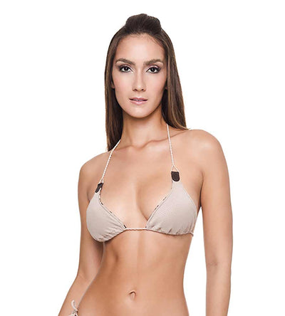 CHEETAH BROWNIE BUZIOS DOUBLE FACE BIKINI TOP DESPI 4382T