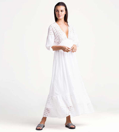 CLOUD DANCER LONG DRESS TOUCHE 0F76001