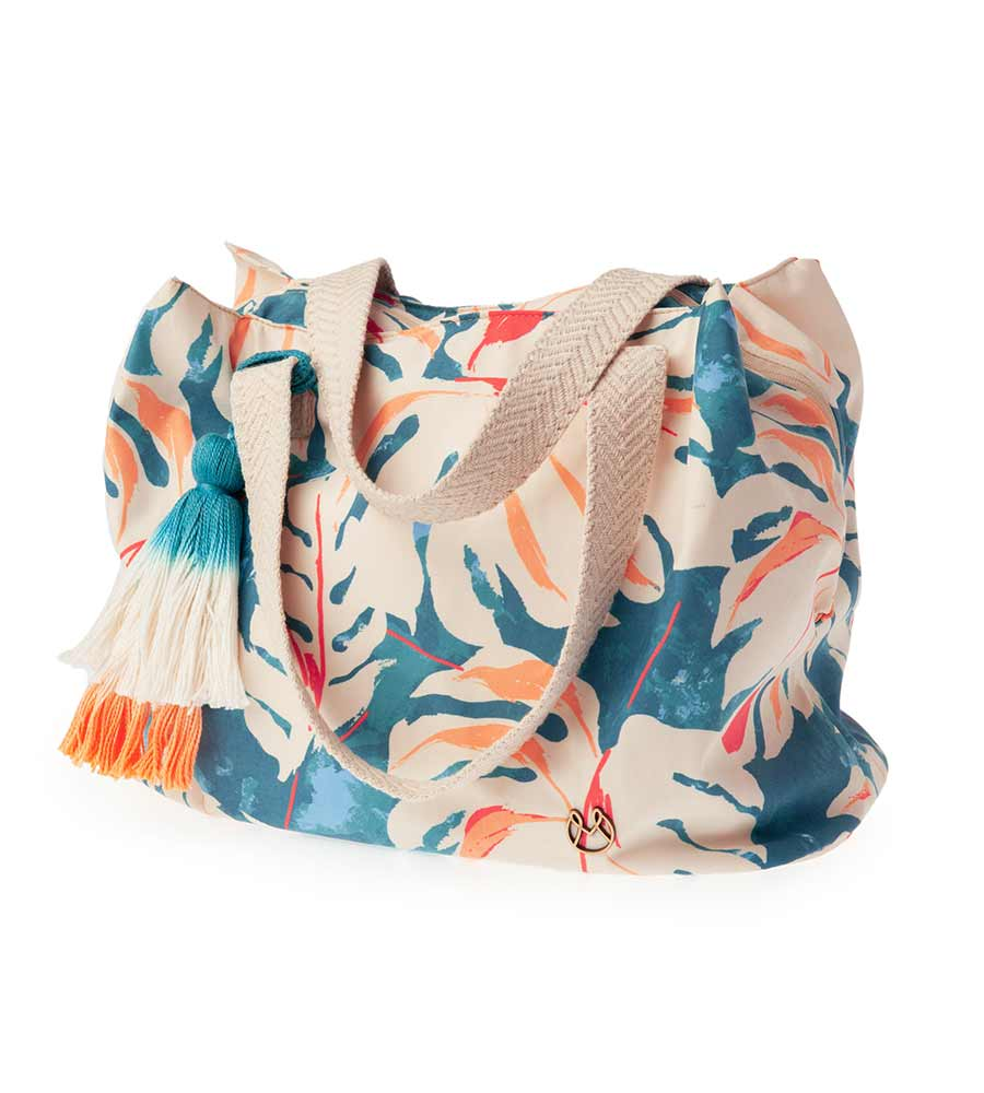 COLORFUL LEAVES BEACH BAG MAAJI 4009XTE04