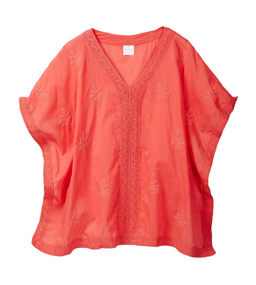 CORAL RENAISSANCE KAFTAN COVER UP BY AZUL