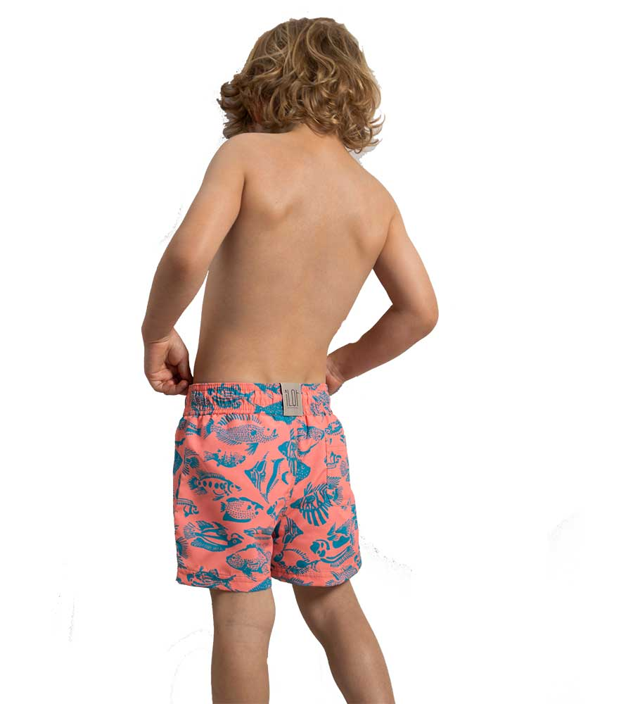 CORAL UNDER THE SEA BOYS SWIM SHORTS TOUCHE KH11P11