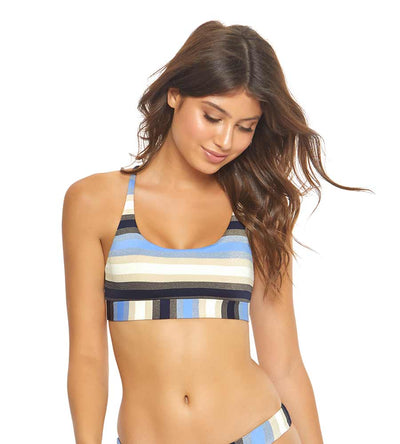 CANCUN STRIPE SPORTY BANDED HALTER TOP PILYQ CUN-312H