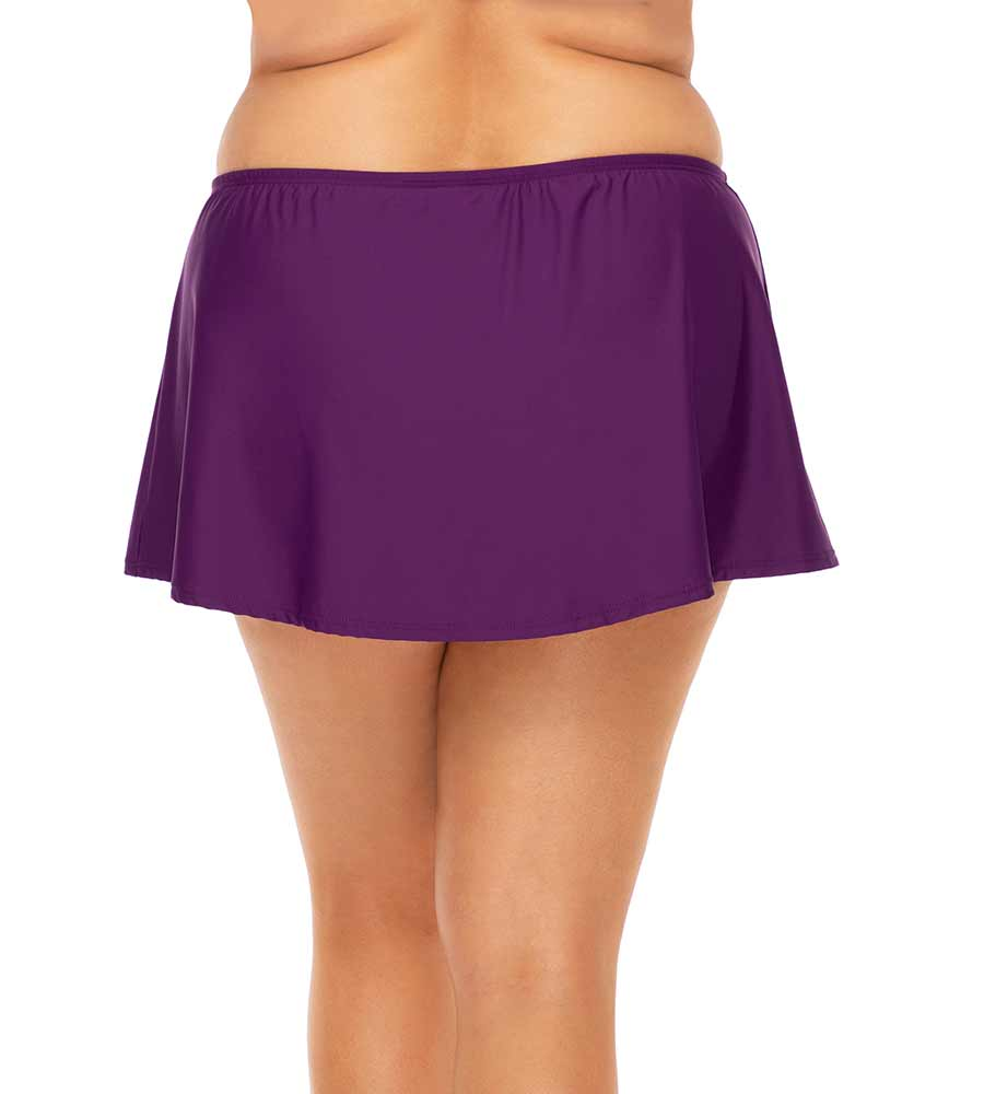 DEEP PLUM ISLAND TIME SWIM SKIRT SUNSETS ESCAPE 336BDEEPL