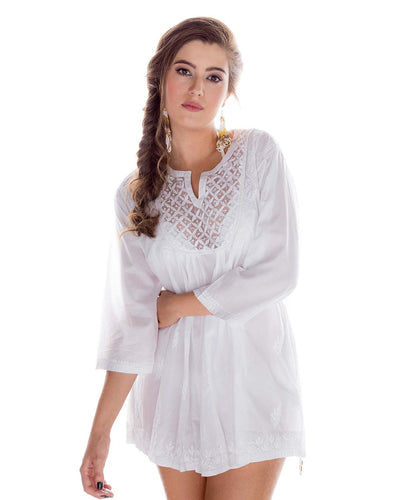 DIAMOND MESH TUNIC PRAIAVE DNO-1182