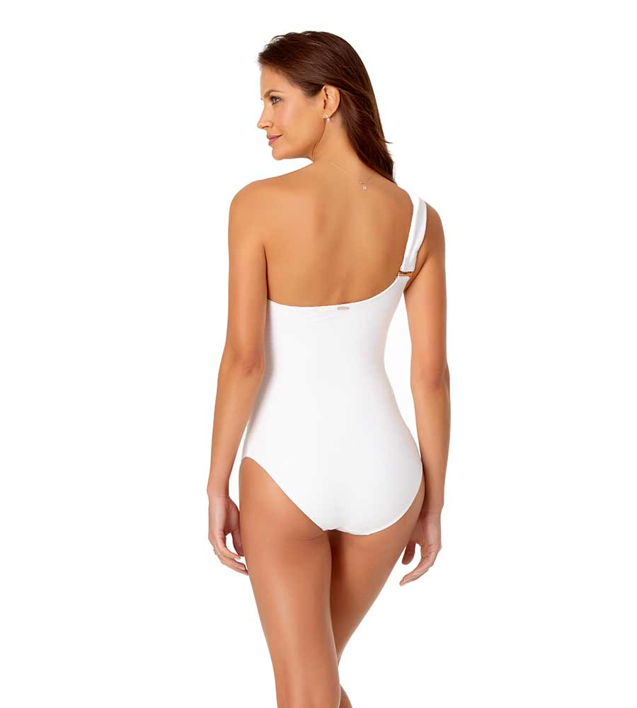 DREAM WEAVER WHITE ONE SHOULDER ONE PIECE BY ANNE COLE