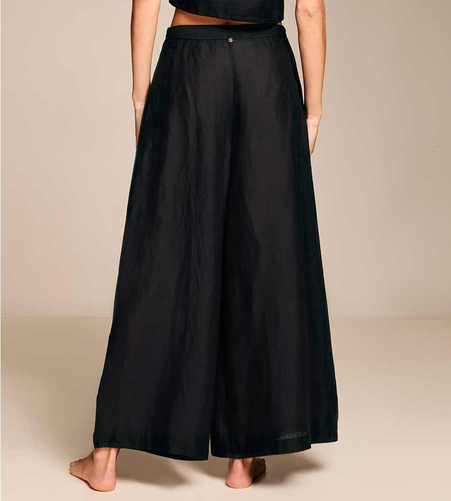 EBONY WIDE LEG PANTS TOUCHE 0A04002