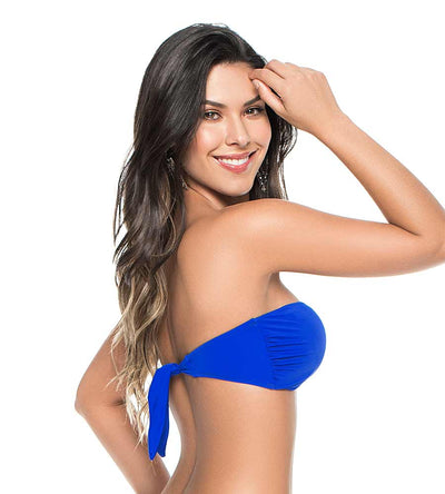 ELECTRIC BLUE COLOR MIX V BANDEAU TOP PHAX BF16520021-412