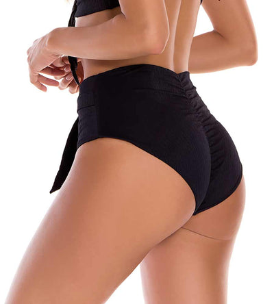 FLORENCIA BLACK HIGH WAIST BOTTOM MILONGA FLOL04
