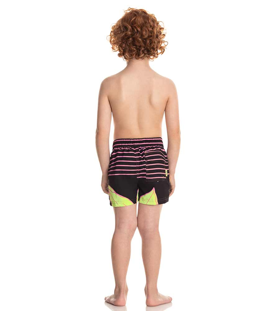 FLOWERS AND STRIPES BOYS SWIM TRUNKS MAAJI 9086KST12