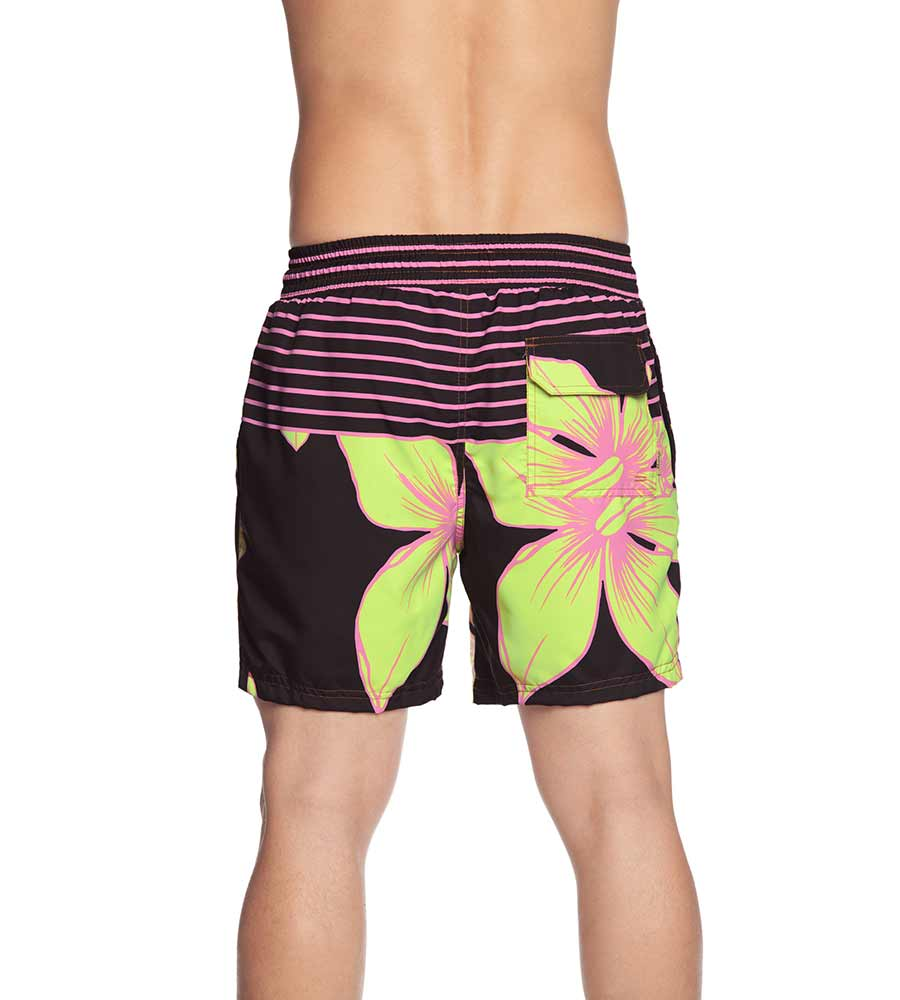 FLOWERS AND STRIPES MENS SWIM TRUNKS MAAJI 1048TSS03