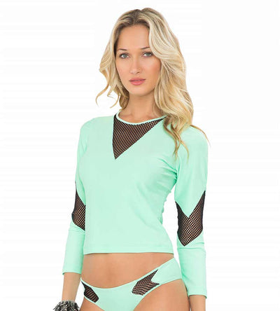FOR YOUR EYES ONLY MINT CONVERTIBLE NET RASHGUARD LULI FAMA L432732-400
